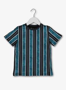 Blue Vertical Stripe T-Shirt (4-14 years)