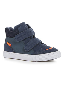 Navy High Top Trainers (6 Infant-4 Child)