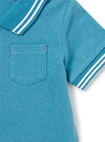 Blue Polo Bodysuit (0-24 months)