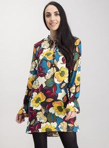 Multicoloured Bold Floral Tunic
